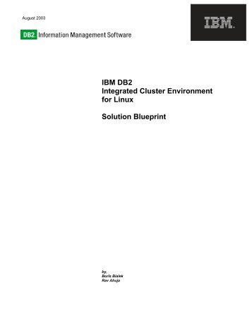 Blueprint oms v11 blueprint solutions ibm db2 integrated cluster environment for linux solution blueprint malvernweather Images