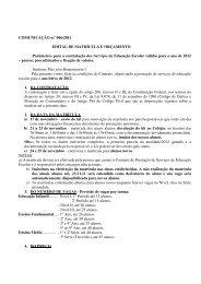 COMUNICAÇÃO n.º 006/2011 EDITAL DE MATRÍCULA E ...