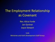 The Employment Relationship as Covenant