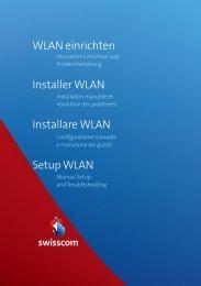 Installare WLAN Setup WLAN Installer WLAN WLAN ... - Swisscom