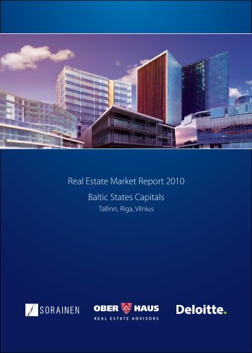 Real Estate Market Report 2010 Baltic States Capitals - Sorainen