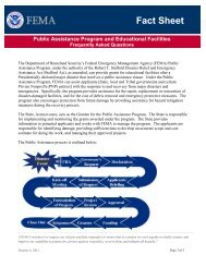 FEMA Educational Facilities Fact Sheet - Federal Emergency ...