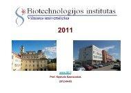 pristatymas - Biotechnologijos institutas