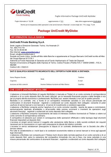 Package Unicredit Myglobe