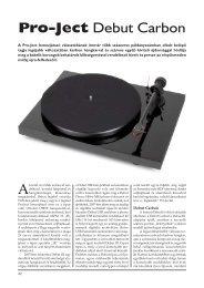 Pro-Ject Debut Carbon - Audiocentrum