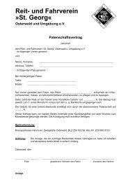 Patenschaftsvertrag - Reit- und Fahrverein »St. Georg« Osterwald ...