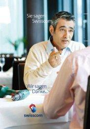 Sie sagen Swisscom. Wir sagen Danke.
