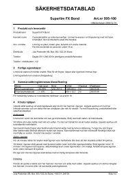 Säkerhetsdatablad (MSDS) (22.8 KB - pdf) - Jula
