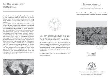Tempranillo - Weinhandlung am Küferweg AG
