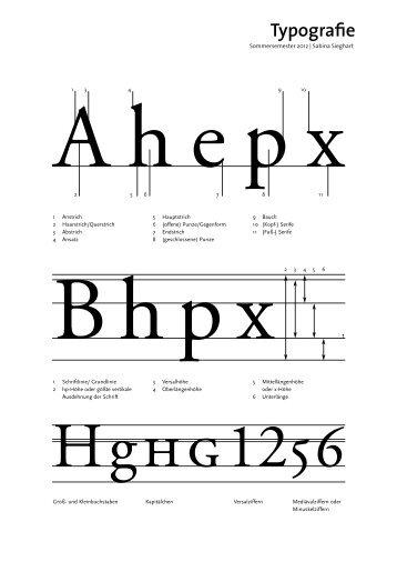 Typografie - Sabina Sieghart Kommunikationsdesign