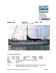 SWAN 86/002 MAXTAR YEAR: 1989 - NAutor's Swan UK