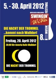 Opener im Mai So. 13.05. 18:00 Uhr Olli Roth Spec ... - Swingin' WiWa