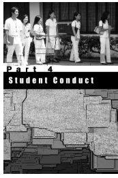 Part 4: Student Conduct - De La Salle Health Sciences Institute