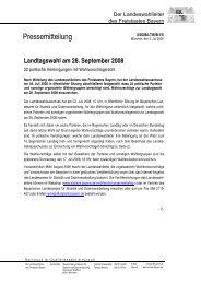 22 politische Vereinigungen mit ... - Wahlen - Bayern