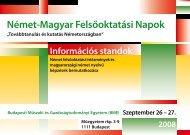 Német-Magyar Felsőoktatási Napok - DAAD-Informationszentrum ...
