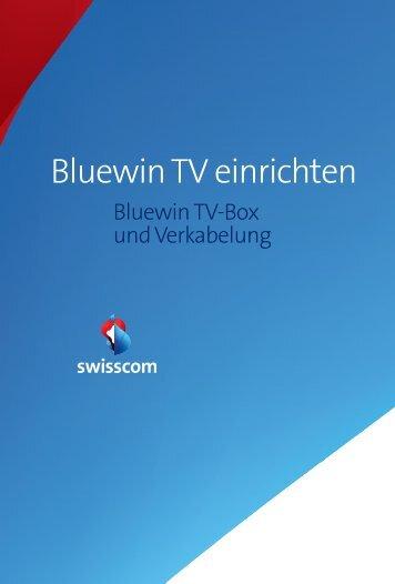 Bluewin TV einrichten - Swisscom