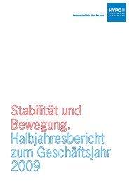 Halbjahresbericht 30.06.2009 - Hypo Landesbank Vorarlberg