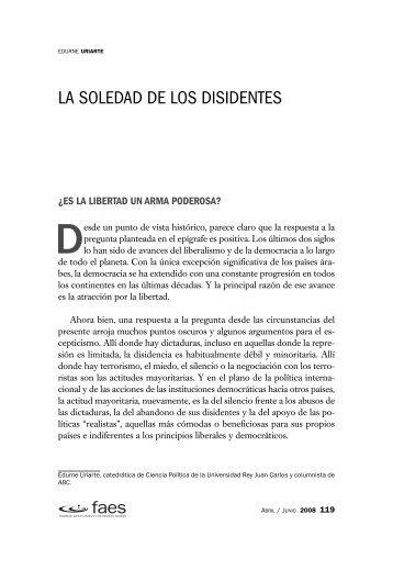 La soledad de los disidentes - FAES