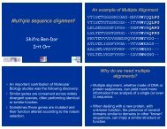 Multiple Alignment - Bioinformatics and Biological Computing