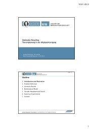 10.01.2013 1 Outline - Institute of Management (ifu) - Ruhr ...