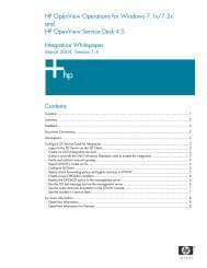 HP OV OVOW + OVSD Integration Whitepaper - HP OpenView