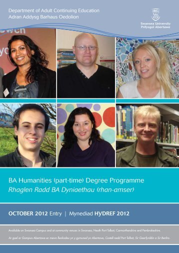 BA Humanities (part-time) Degree Programme ... - Swansea University