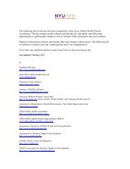 The following list of websites has been compiled - New York University