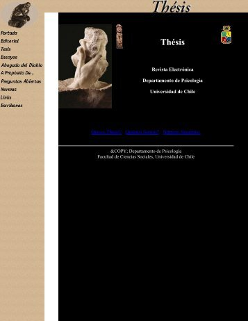 Thésis, Revista Virtual - Facultad de Ciencias Sociales