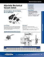 Mechanical Vacuum Switches