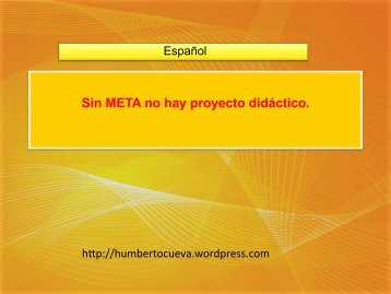 META del proyecto - Blog de Humberto Cueva