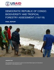 democratic republic of congo: biodiversity and tropical forestry ...