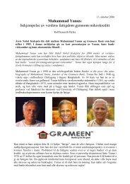 Muhammad Yunus: bekjempelse av verdens fattigdom ... - Ildsjelen