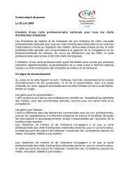 Communiqué de presse Le 30 juin 2009 Création d'une carte ...