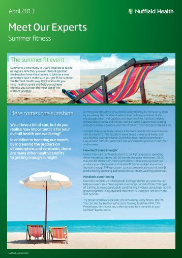 Download our Summer Fit event PDF - Nuffield Health