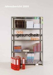Jahresbericht 2009 - OdA Gesundheit Bern
