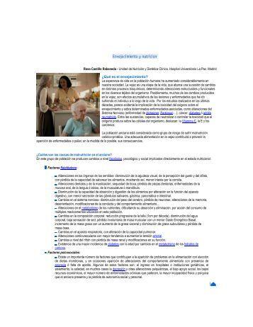 Envejecimiento y nutrición - RAM ==> Red para el Desarrollo de los ...