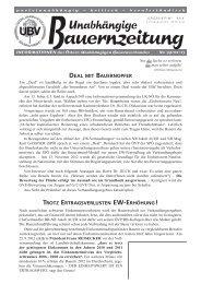 Download - UBV - Österreichischer Unabhängiger Bauernverband