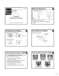 Ch. 9-Molecular Structures