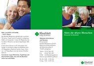 Faltblatt Ehrenamt - Kleeblatt Pflegeheime gGmbH