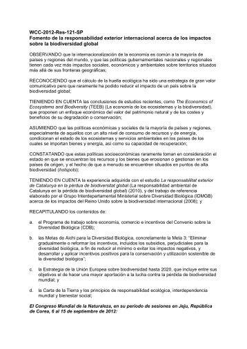 WCC-2012-Res-121-SP Fomento de la ... - IUCN Portals