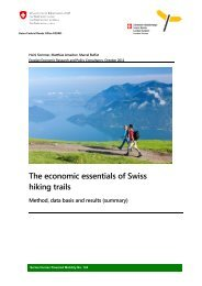 The economic essentials of Swiss hiking trails - Schweizer ...