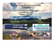Oil & Gas Production and Produced Water - Colorado Division of ...