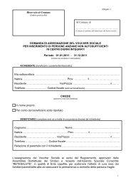 Domanda Voucher Sociale CDI 2011 - Comune di Calco