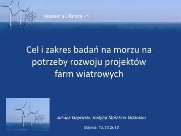 Możliwości wdrożenia morskiej energetyki wiatrowej w Polsce - DNV
