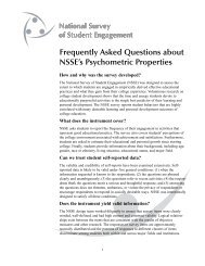Frequently Asked Questions about NSSE's Psychometric Properties