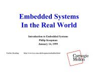 Embedded Systems In the Real World - Electrical and Computer ...