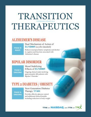 TRANSITION THERAPEUTICS - Renmark Financial Communications