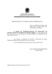 ministério da defesa comando da aeronáutica ... - Redemet