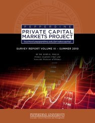 Capital Markets Survey Report, Summer 2010 - Graziadio School of ...