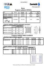 ROCA čuguna un tērauda sildķermeņi un radiatori - cenu ... - Sanistal